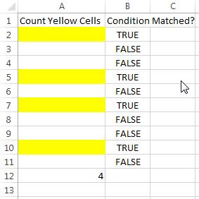 Vba code to count color cells with conditional formatting if yes then you can use following code which counts the number of cells with specific color here it is yellow and put the count in cell ibookread Read Online