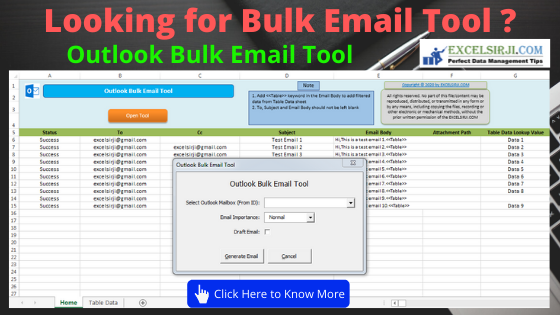 Outlook Bulk Email Tool