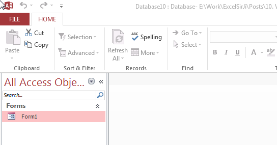 VBA Code to Hide Menu Ribbon in MS Access • EXCELSIRJI COM
