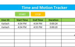 Time and Motion Study Template