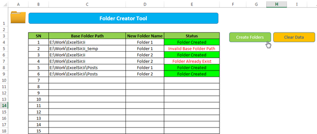 Vba To Create Folders With Excel Template
