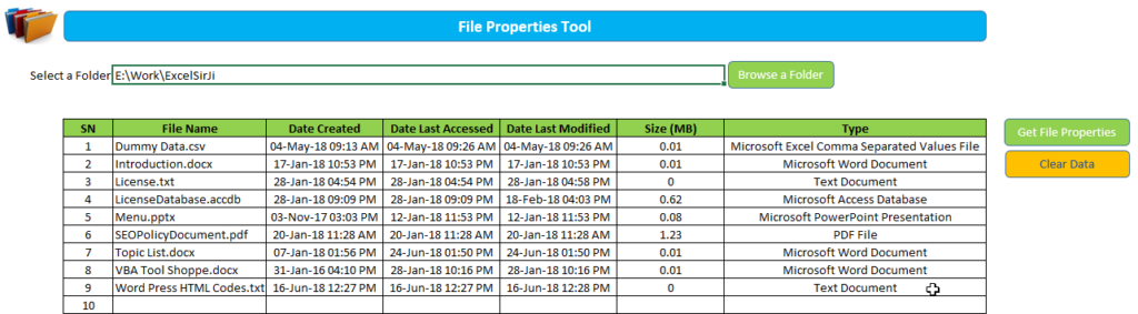 File Properties Tool