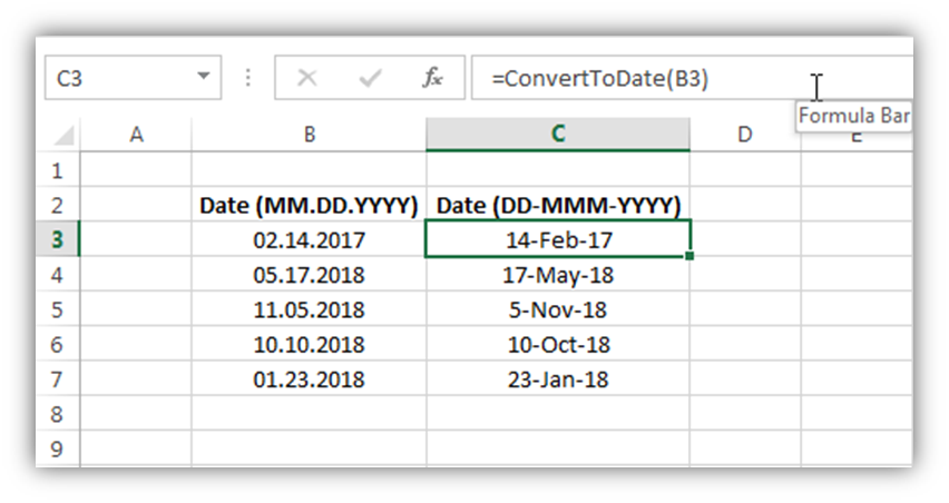 VBA Code to Convert MM DD YYYY Format to DD-MMM-YYYY