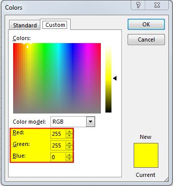 How to get RGB Codes of a Color - EXCELSIRJI COM