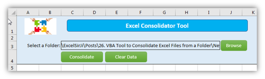 Merge Excel Files with one click Excel VBA