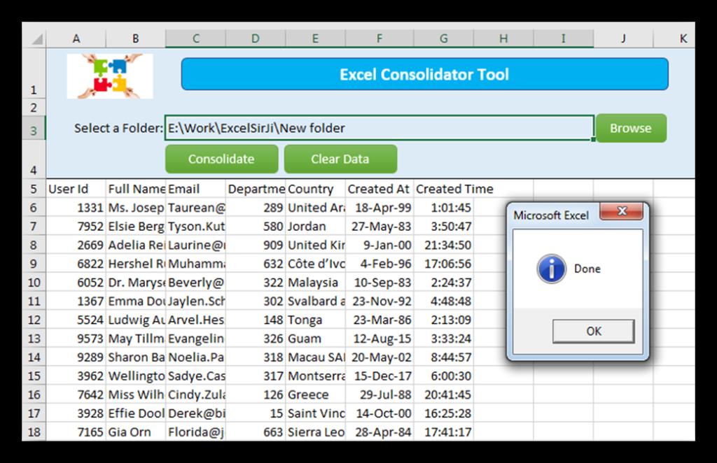 ExcelSirJi - Excel Consolidator Tool
