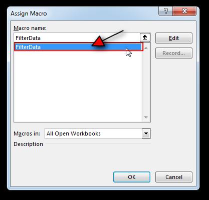 Excel Filter Data VBA