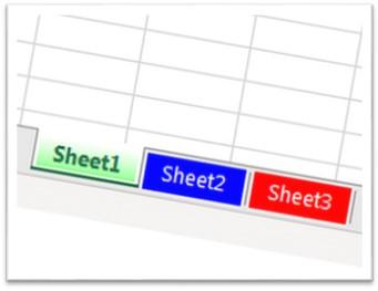 Change Excel Sheet color