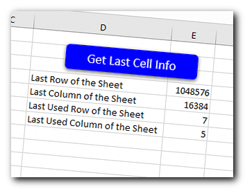 VBA Code to Find Last Column or Row of a Sheet