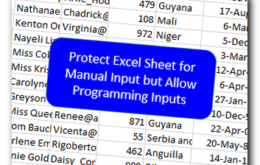 Protect Excel Sheet for Manual Input