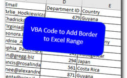 VBA Code to Add Border to Excel Range
