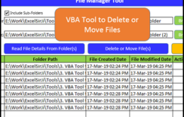 VBA Tool to Delete or Move Files