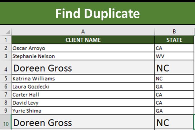 Find Duplicate