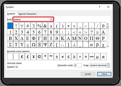 Delta Symbol - Excel Tutorial
