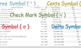 Logo Inserting Symbols in Excel