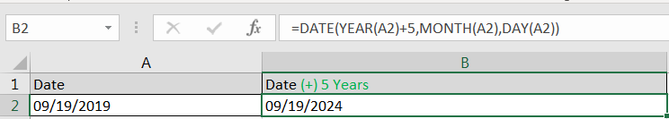 Adding Years in Dates
