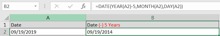 SUBTRACTING YEARS IN DATE FUNCTION