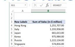 Free Tutorial on creating Pivot Tables in Excel