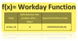 How to use Excel Workday Formula in Excel