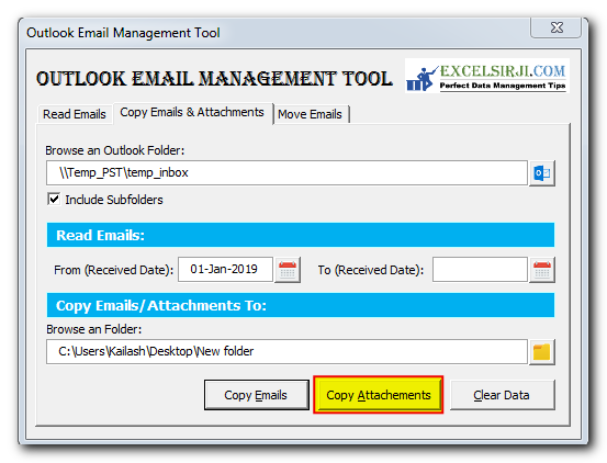 Outlook Email Management Tool