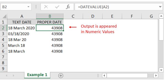 Datevalue function