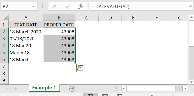 Datevalue function