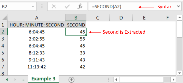 Hour Minute Second Function