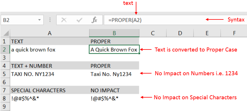 Learn Excel Free Proper Function