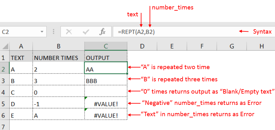 REPT Function - learn excel formulas
