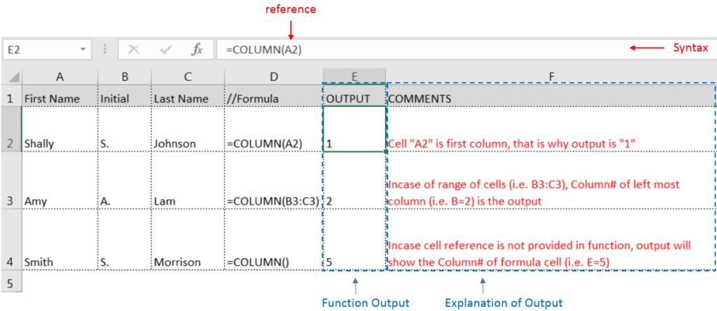 Learn Excel Free Column Function