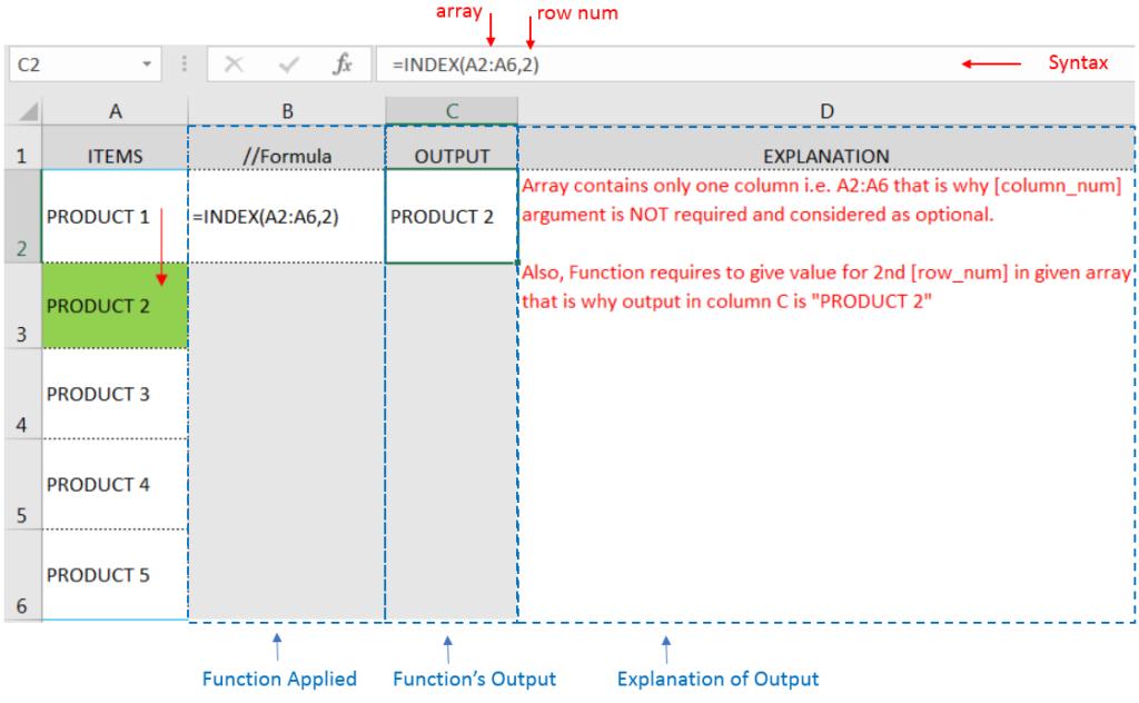 INDEX Function Excel Tutorial