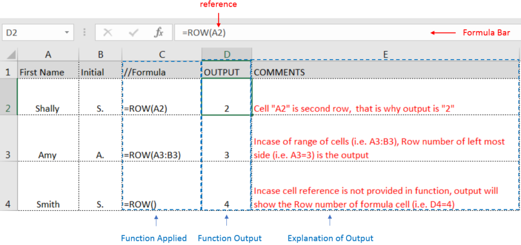 Row Function - ExcelSirJi