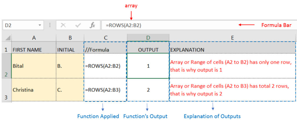 ROWS Function