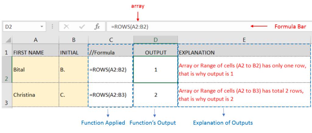 ROWS Function - ExcelSirJi