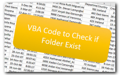 VBA Code to Check if Folder Exist
