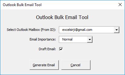 Outlook Bulk Email Excel VBA Tool - EXCELSIRJI COM