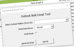 Outlook Bulk Email Sending Tool