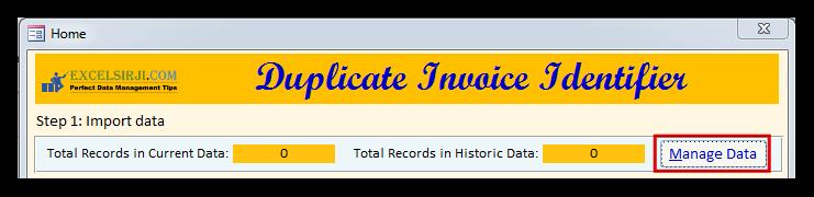 Duplicate Invoice Identifier